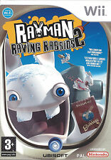 RAYMAN RAVING RABBIDS 2 for Nintendo Wii - with box & manual - PAL