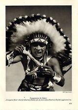 Tanzpantomimen der Indianer Cayuse Teufelstanz derNavajo Indianer New Mexico1935