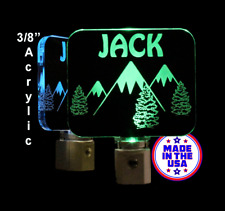 Mountains Night Light - Personalized LED Light - Trees