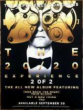 Justin Timberlake The 20/20 Experience 2 Of 2 Ltd Ed Mini Poster Display Cling!