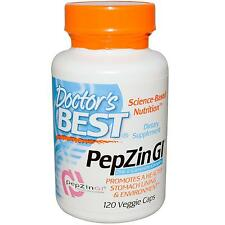 Doctor's Best PepZin GI - 120 Vcaps - for a Healthy Stomach Lining & Enviroment