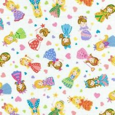 Fat Quarter Once Upon A Time Princesses Quilting Fabric - Nutex