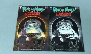 2x RICK & MORTY VS DUNGEONS & DRAGONS 1; JETPACK FORBIDDEN PLANET VARIANT Oni