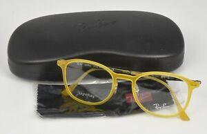 Ray Ban RB7051 5519 RX Optical Eyeglasses Light Yellow Frame 49-20-140 DEMO