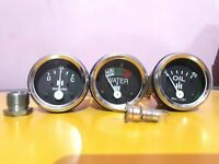 """Elec Temp Oil Mech Fuel Amp Gauge black bezel Smiths 52 mm 2 1//16/"""" Gauges Kit"""