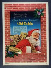 1952 Old Gold Cigarettes santa claus cartons photo vintage print Ad
