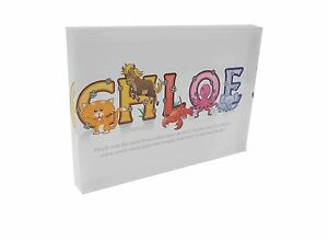 Feel Good Art  Girls Name with Meaning Chloe A5 Diamond Polished Acrylic Token