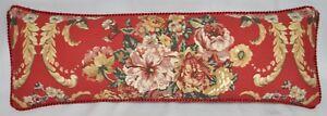Corded Pillow made w Ralph Lauren Marseilles Danielle Red Floral Fabric 24x8