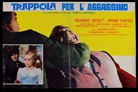 T87 Fotobusta Trap für L'Assassin Riccardo Freda Irene Papas