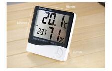 Indoor Digital LCD Temperature Humidity Meter Clock Home Thermometer Hygrometer