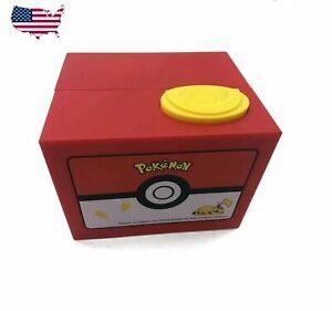 Pikachu Coin Bank Automated Money Box Stealing Coin Kids Saving Piggy Bank