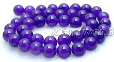 "SALE High quality 10mm Round  Purple jade gemstone beads strands 15""-los373"