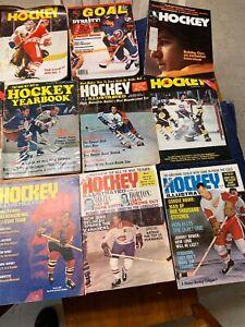Vintage Rare 1960's-80' Hockey Magazine American Hockey  Lot Of 11 Orr
