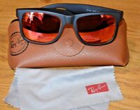 Genuine Ray-Ban Justin Sunglasses RB 4165; Case and Cloth; Mirrored Lenses;51x16