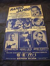 Partition Mambo Jambo Eddie Warner Leca Valvert 1950 Music Sheet