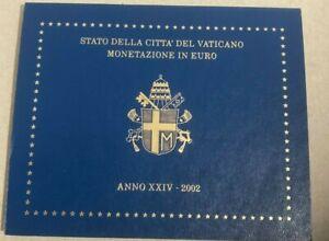 VATICAN 2002  COFFRET BU avec le PAPE JEAN-PAUL II (8 pièces 1CT à 2 €)