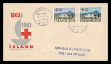 Iceland 1963 FDC, Centenary of the Red Cross. Lot # 14.
