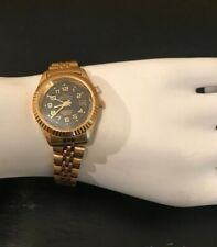 Vintage Paolo Gucci Swiss Made Gold & Stainless Steel Luxury Womens Wrist Watch