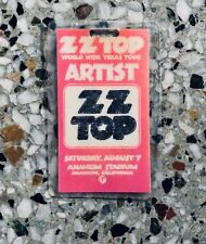 "Vintage 1976 Zz Top Concert ""Artist� All Access Backstage Laminate Pass"