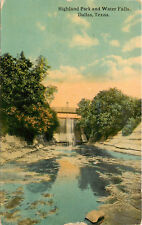 Texas, TX, Dallas, Highland Park & Water Falls 1916 Postcard