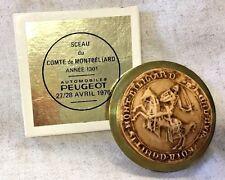 Vintage. Peugeot 1976 Montbeliard Emblem Free Shipping