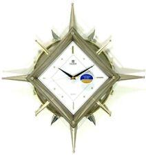 Power Motion swinging ship wheel pendulum with elegant glass lens wall clock (PW