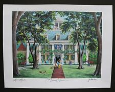 """Houmas House Plantation"" by Jim Blanchard, signed & titled"