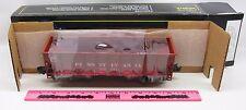 Weaver ~ #220621 Pennsylvania red 2-bay coal car ribbed 3-rail