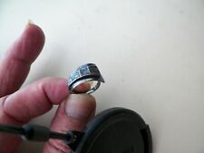 Turquoise Ring Size 5 1/4 Vntg Mexican Sterling Silver &