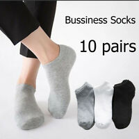 SOCK - 10Pairs Mens Cotton Ankle Low Cut Short Quarter  Fitness/Trainer Sock