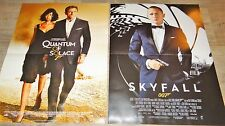 james bond 007 SKYFALL QUANTUM OF SOLACE  SPECTRE daniel craig 3 affiches cinema