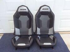 Polaris RZR XP1000 Seats Black/Charcoal/Silver -#2 stock  1 Pair