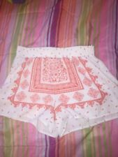 Sweet Wanderer Shorts Size S, White And Coral