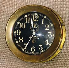 Ww1 Brass Seth Thomas #2 U.S. Navydeck clock Works Great Rare