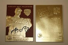 AARON RODGERS AUTOGRAPHED 2005 DRAFT PICK 23KT GOLD RETRO ROOKIE CARD! TEXTURED!