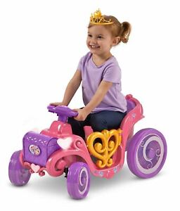Disney Princess Enchanted Adventure Carriage Quad, 6-Volt Ride-On Toy by Kid Tra