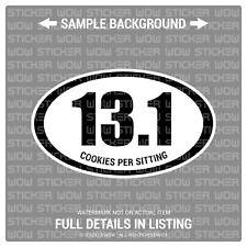 Decal Sticker Vinyl - Marathon 13.1 Cookies (x2) 5x3 - Funny Jdm Euro