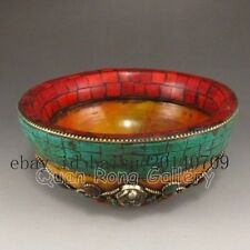 Hand-carved Chinese Turquoise Bowl NR c01