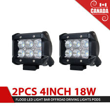 2x 4inch 18W CREE LED Work Light Bar ATV SUV 4WD Fog Flood Driving Offroad Lamp