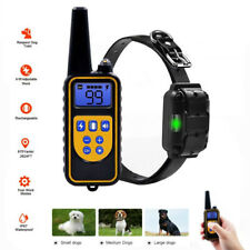Waterproof Dog Training Shock Collar Rechargeable 875Y Remote Pet Bark Stopper