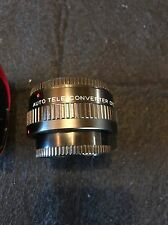 Vintage Canon AE-1 35mm Camera Tele Converter Lens Still Works Fine Collectible