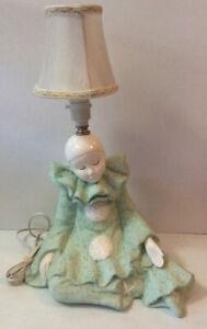 Vintage Ceramic Art Deco Design Pierrot Table Lamp