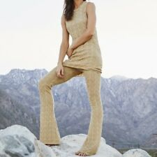Free People Gold Knit Pants