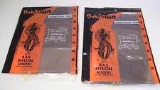 2 Pair Nylon Stockings Sz 10 Stretch Top Taupe Nip Canada Bagdad Brand Vintage