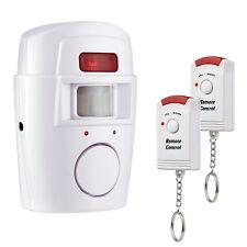 Alarme maison Détecteur De Mouvement Infrarouge Sans Fil + 2 Telecommandes