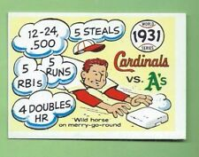 1970 Fleer R.G. LAUGHLIN WORLD SERIES 1931 A's v. Cardinals #28 BLUE BACK EXMT