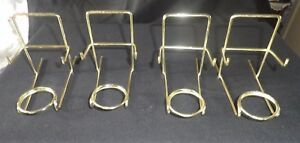 4 TOP QUALITY COFFEE CUP & SAUCER STANDS BRASSED