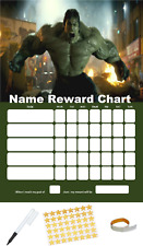 The Hulk Personalised Reward Behaviour Chart Free Pen,Stickers, Adhesive Pads