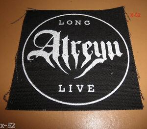 ATREYU cloth fabric patch black Long Atreyu Live