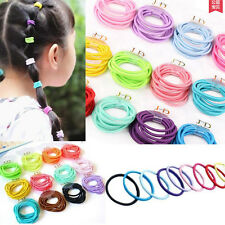100 Colorful Baby Kids Girl Elastic Tiny Hair Tie Band Rope Ring Ponytail Holder
